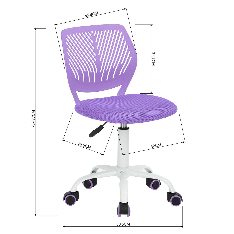 HOMY CASA Mesh Office Task Computer Desk Chair Adjustable Mid Back ...