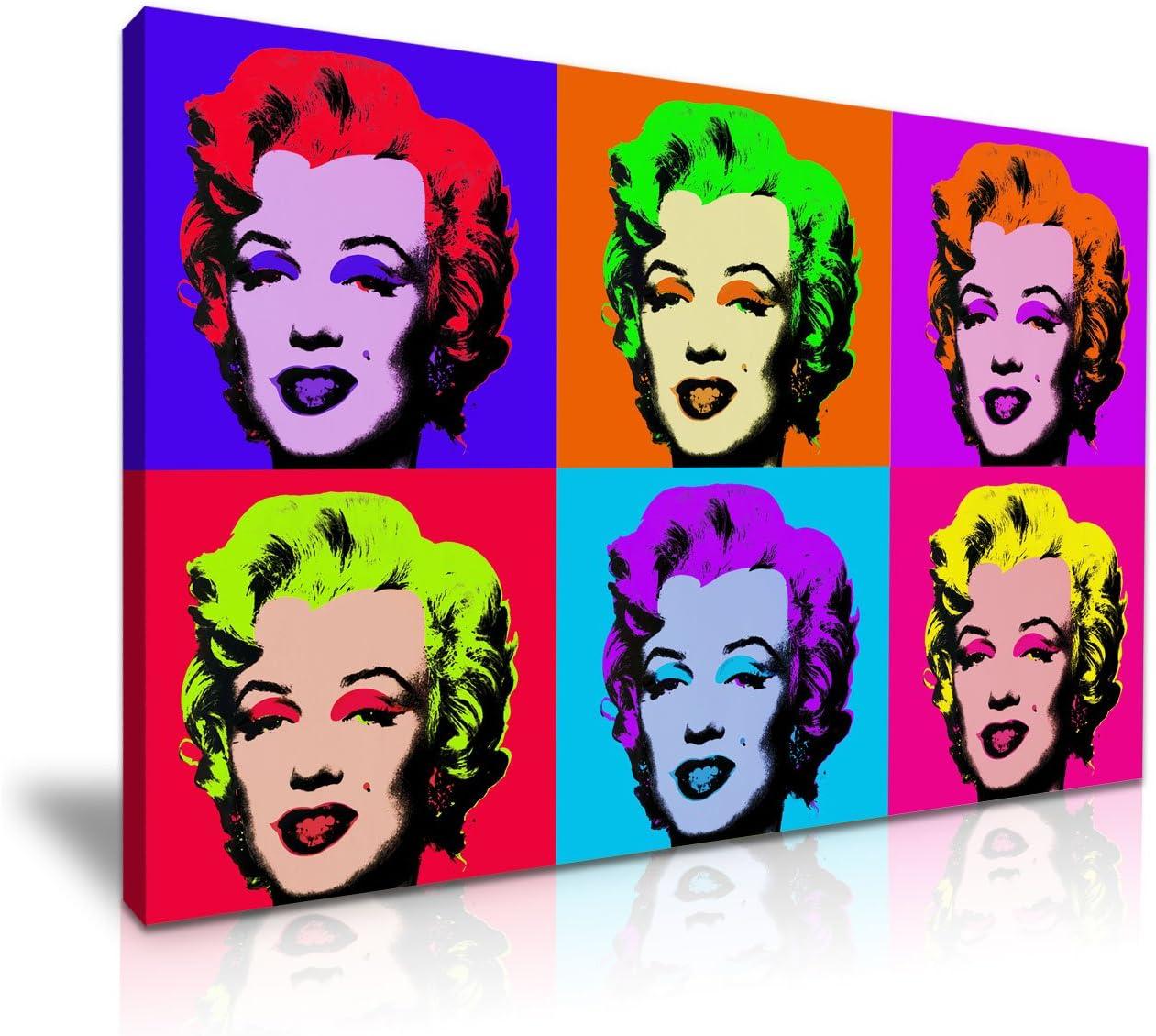 Marilyn Monroe Pop Art tendue Impression sur toile 76/cm x 50/cm