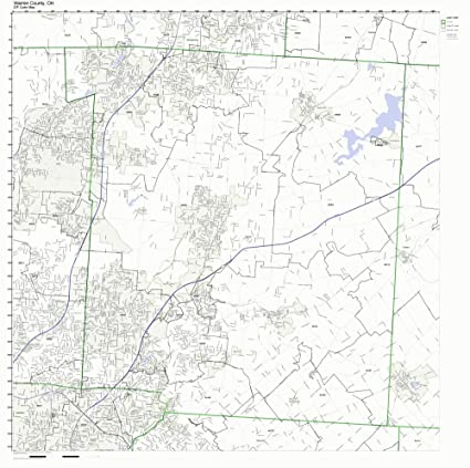 Amazon Com Warren County Ohio Oh Zip Code Map Not Laminated Home