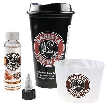 Barista Brew e-Liquid Salted Caramel Macchiato, Shake-and-Vape für Ihre  e-Zigarette, 0 0 mg Nikotin, 50 ml