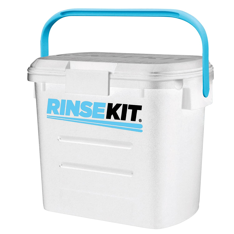 RinseKit - Die mobile Dusche (weiß) für Camping, Wassersport, Angeln, Jagd, Hunde