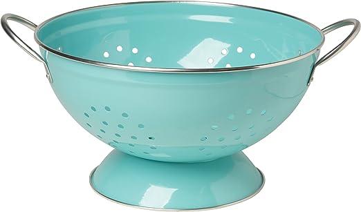Amazon Com Now Designs Metal Colander 3 Quart Turquoise Kitchen Dining