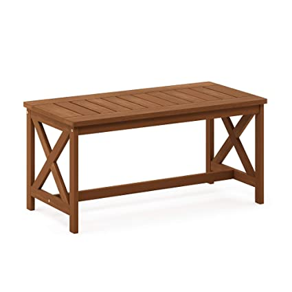 Fantastic Furinno Fg18111 Tioman Hardwood Patio Furniture Coffee Table In Teak Oil X Leg Natural Best Image Libraries Weasiibadanjobscom
