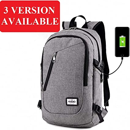 Amazon.com: Fashion Man Laptop Backpack USB Charging ...