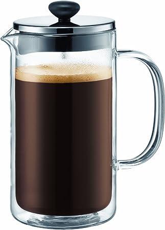 Bodum 10599-16 Bistro - Cafetera de pistón con Doble Pared (8 Tazas, 1 l): Amazon.es: Hogar