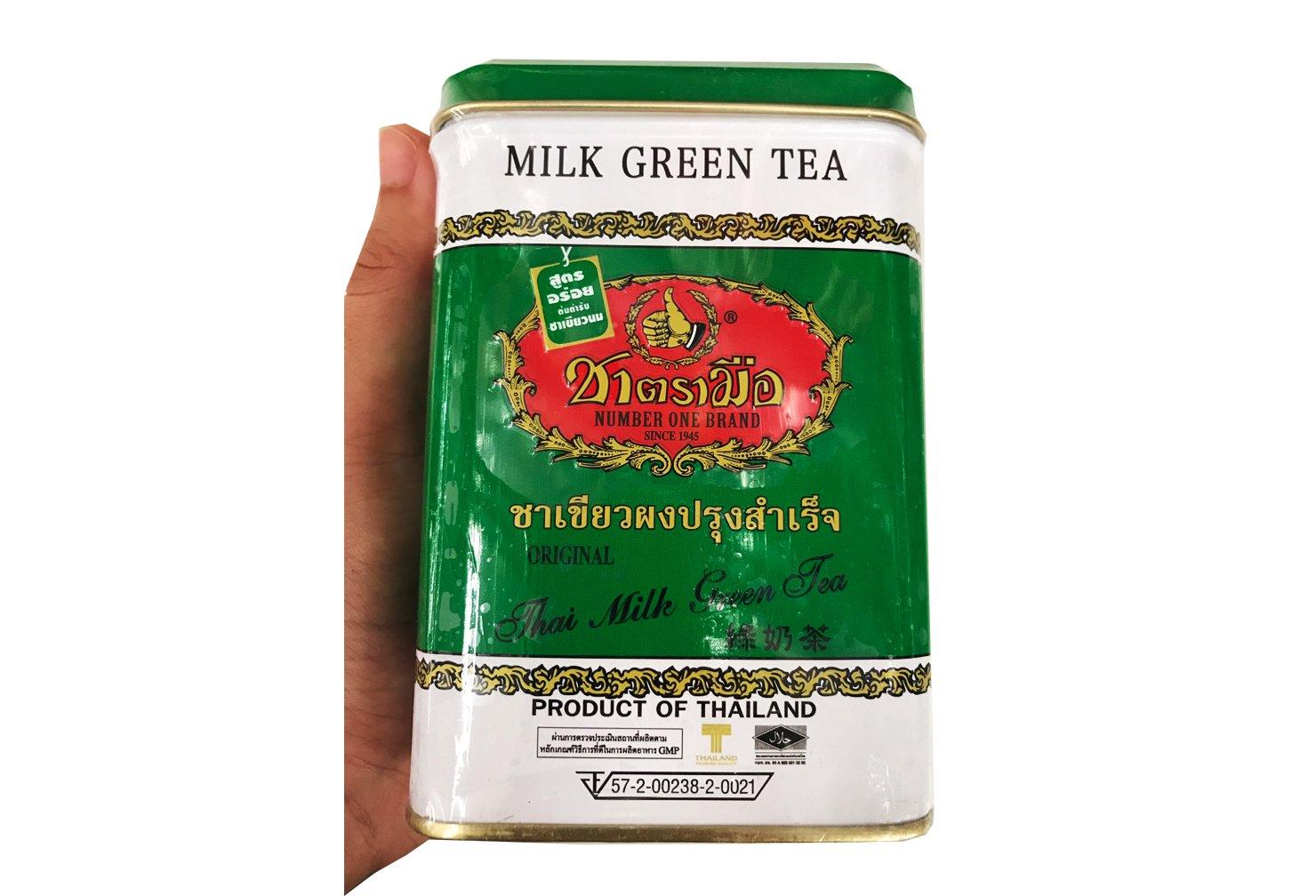 El Original tailandés té verde tradicional (bolsa de 200 G.) (250g.) en lata Set 2 piezas: Amazon.es: Hogar