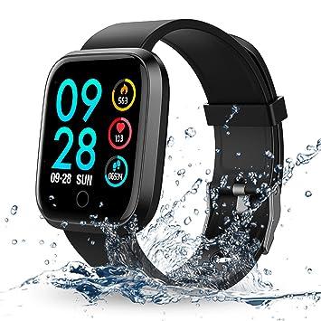 Reloj Inteligente, RIVERSONG Smartwatch Pulsera Inteligente con Pulsómetro Pulsera Actividad Impermeable Reloj Deportivo con Multiples Modos de ...