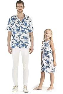 418f8cbfd446 Matching Father Daughter Hawaiian Luau Cruise Outfit Shirt Dress ...