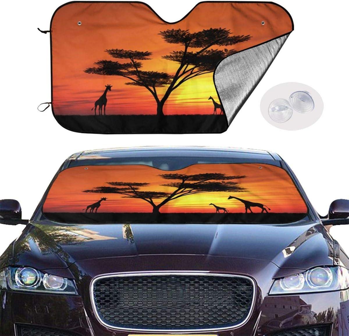 Universal Size Foldable Car Front Window Sunshade 55 x 30 UV and Heat Keep Your Car Cool Delerain Funny Trump 2020 Custom Car Windshield Sun Shade Block Sun Glare