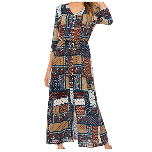 Women\'s Plus Size Maxi Dress| Tribal Print Color Block ...