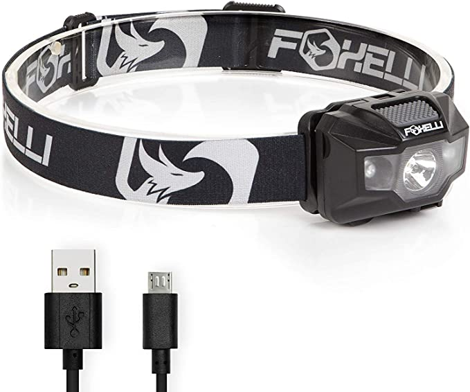 Best headlamp for hunting: Foxelli USB Rechargeable Headlamp