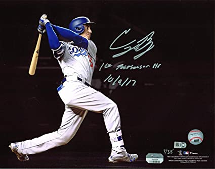 109af7dbce7 Image Unavailable. Image not available for. Color  Dodgers Cody Bellinger  Autographed ...