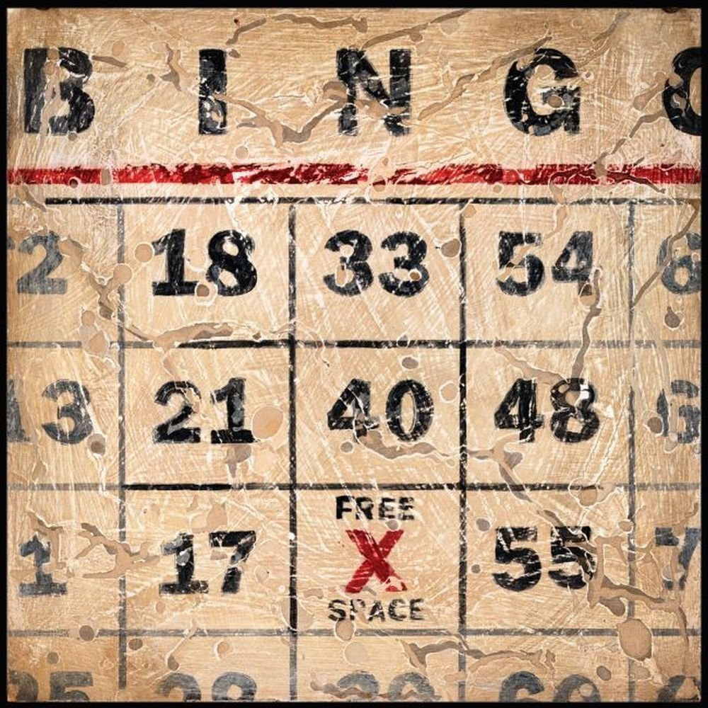 Printfinders Bingo by Aaron Christensen Canvas Art, 30-Inch by 30-Inch