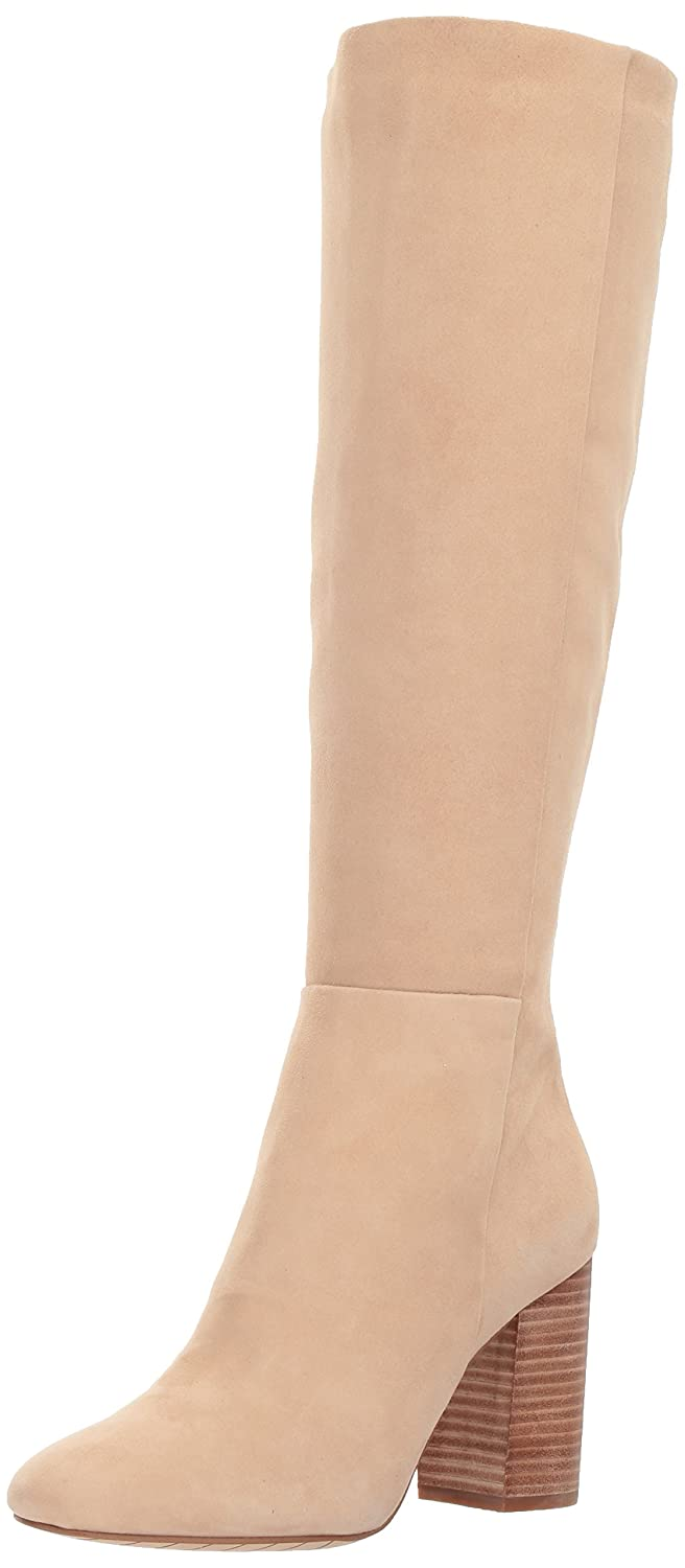 Kenneth Cole New York Women's Clarissa Knee High Tall Stacked Heel Engineer Boot B071D8PZX4 7 B(M) US|Almond