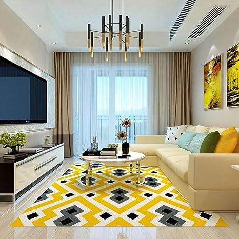 Tappeto salotto moderno motivi geometrici per soggiorno - Non ...