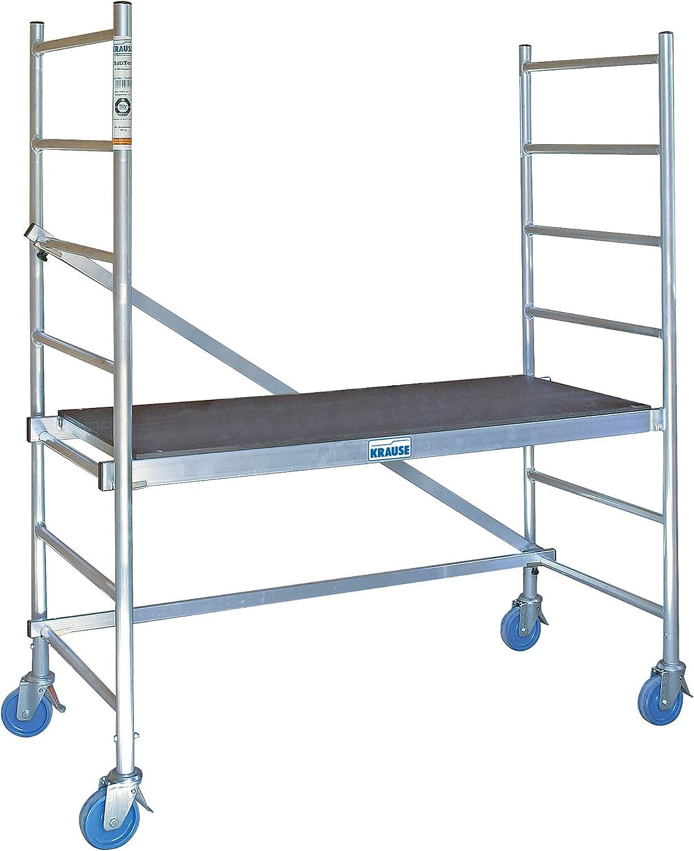 KRAUSE Andamio de aluminio RollTec, altura de trabajo aprox. 2,90 m: Amazon.es: Oficina y papelería