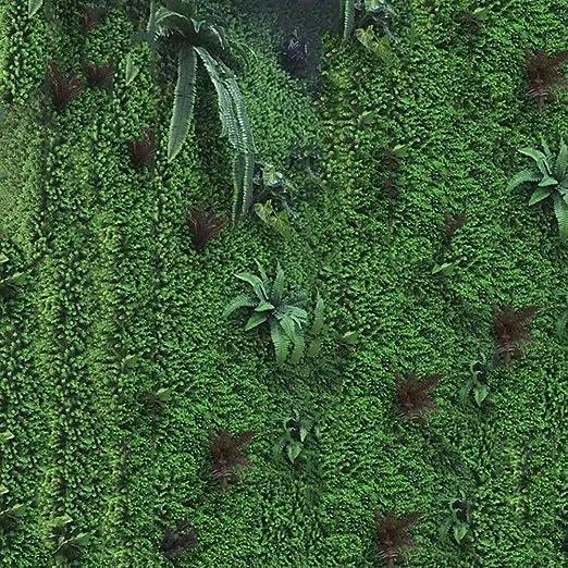 Yw-Flower Pared de la Planta de setos Artificiales al Aire Libre, cercado de privacidad, Muro Verde, jardín, decoración del hogar (1M × 1M),C: Amazon.es: Hogar