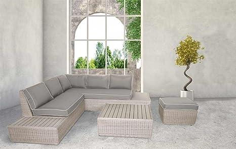 Lifestyle4living Lounge Gartenmobel Set Aus Polyrattan In