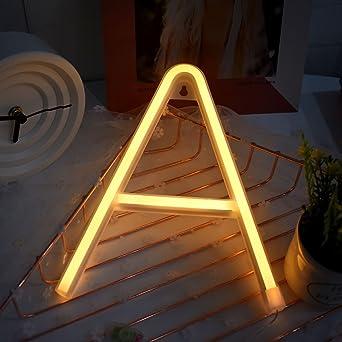 Luces Neon letras – Lámpara de noche Pérgola LED iluminar el signo para niños, decoración Hotel, Bar, Cumpleaños, Festival, fiesta,: Amazon.es: Iluminación