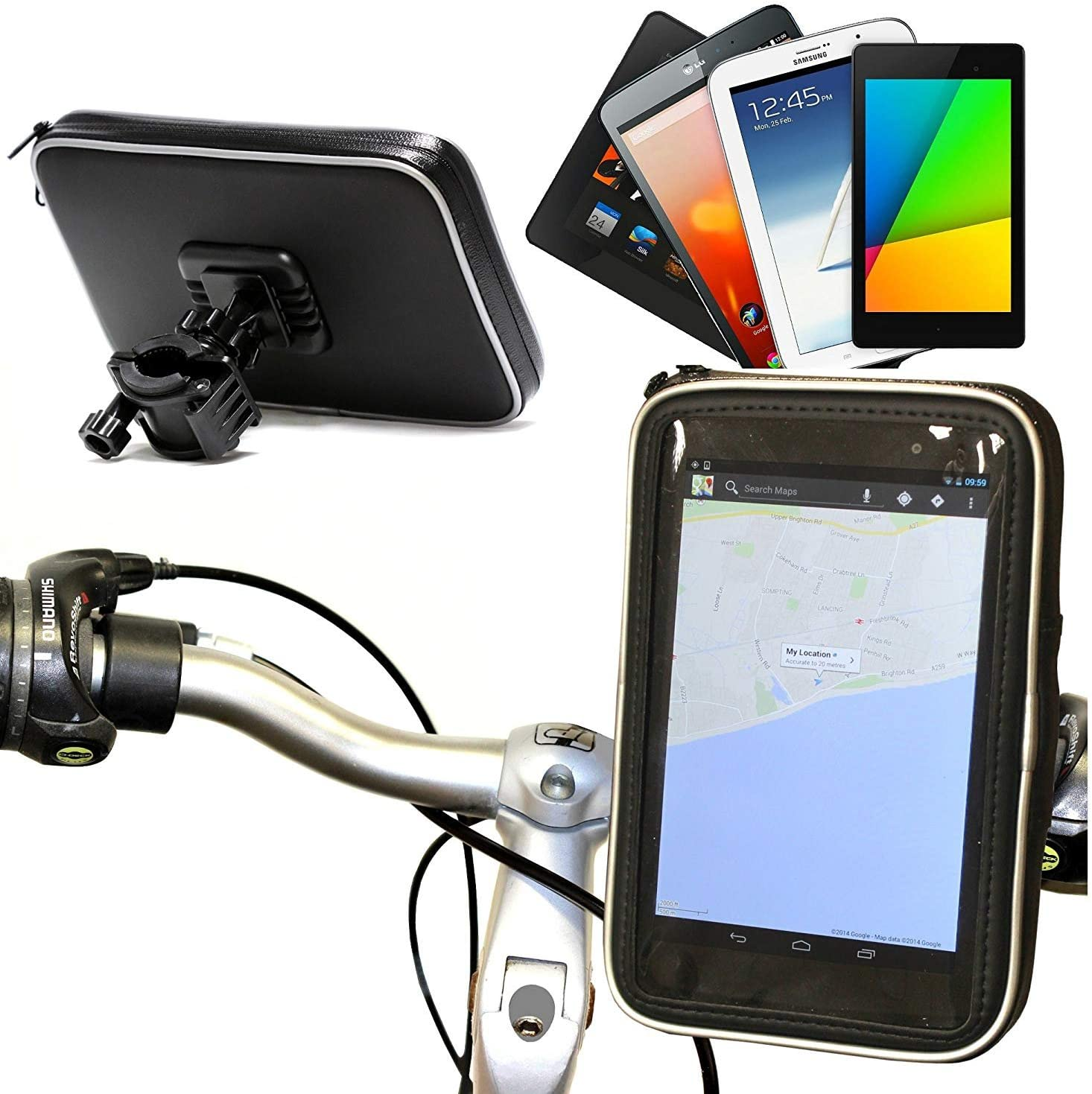 Navitech Cycle/Bike/Bicycle Waterproof Holder Mount and Case Compatible with The Acer ICONIA B1-790-K732 7-Inch Tablet