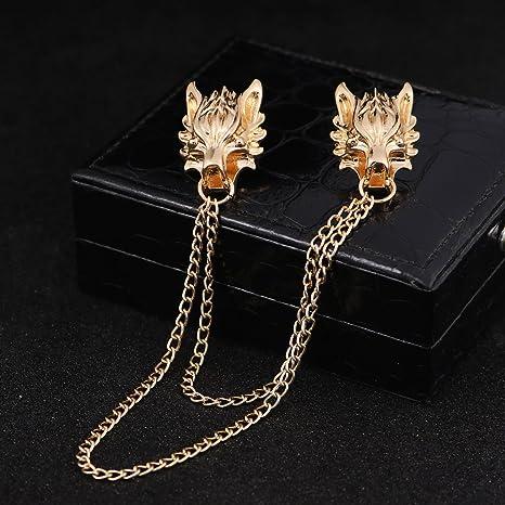 Amazon.com: Broche de dragón chino broche pin joyería hombre ...