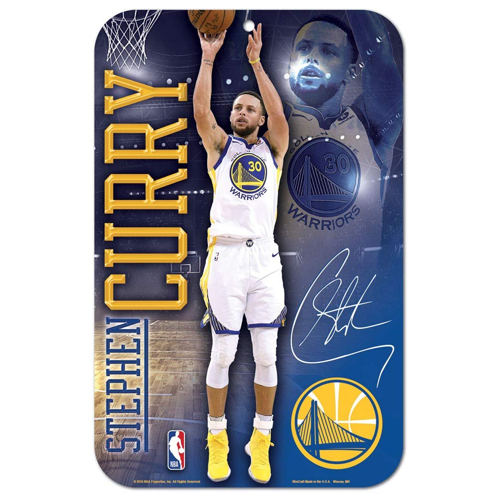 Wincraft NBA Golden state Warriors 92801013 Plastic Sign, 27,9 x 43,2 cm, nero
