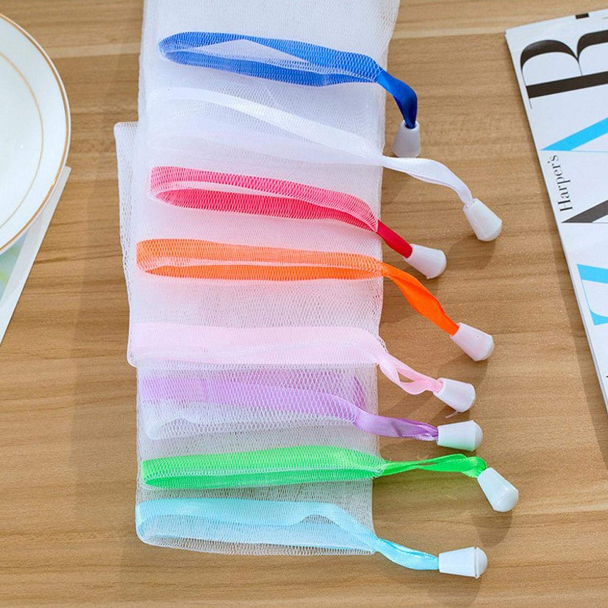 nettoyant Papier cartonn/é pour d/écoration de la Maison xiaoyamyi Lot de 5 Sacs de Savon color/és Faits /à la Main en Mousse antibact/érien