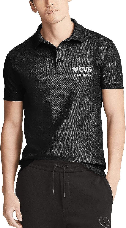 CAEEKER White-CVS-Health- Polo Shirt Cotton Sports Short Sleeve Men's T-Shirts