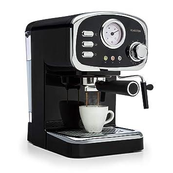 Klarstein Espressionata Gusto • Cafetera • Espresso • Diseño retro • 1100 W de potencia •