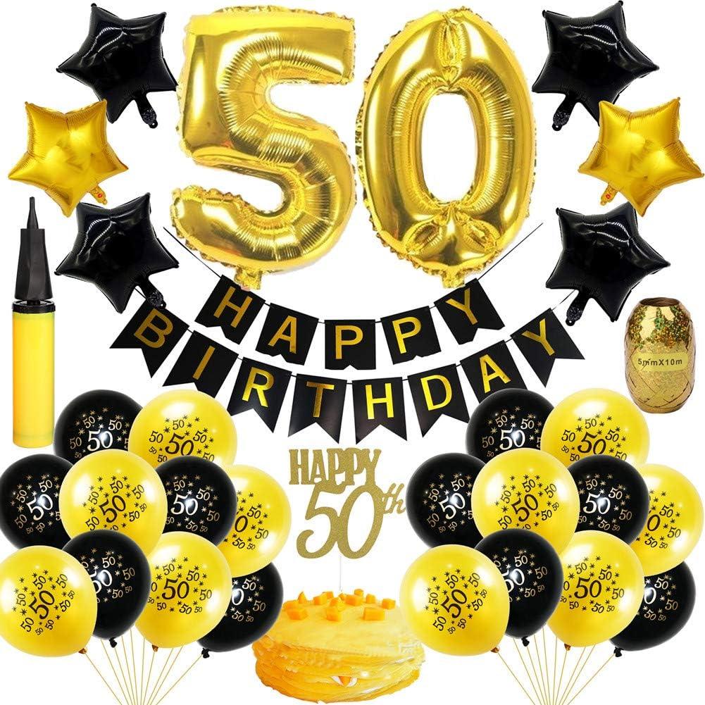 Amazon.com: 50 aniversario Decoraciones – Feliz cumpleaños ...