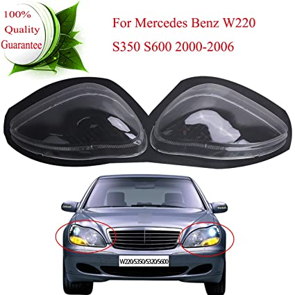 Amazon Com Headlight Headlamp Lens Shell Cover For Mercedes Benz S