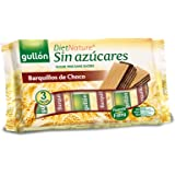 Gullón - Barquillos sin azúcar con chocolate Pack de 3, 180g