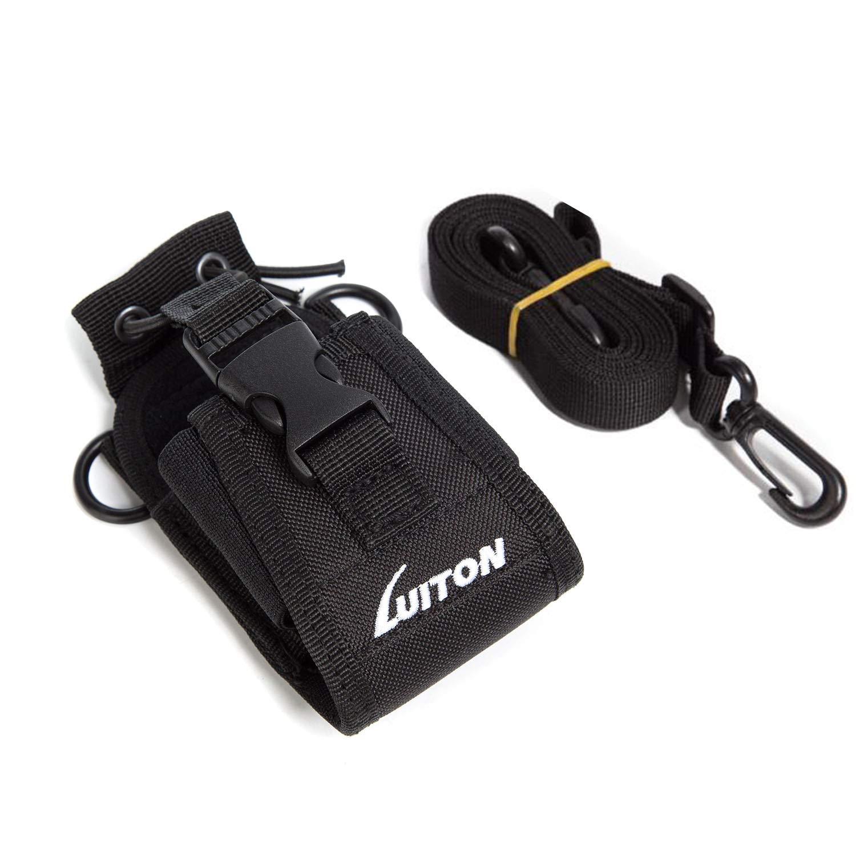LUITON 3 in1 Multi-Function Radio Holder Holster Case Pouch Bag for GPS Kenwood Yaesu Icom Motorola baofeng UV5R UV82 TYT UV5RA HYT 888S Retevis H777 F8HP Two Way Radio Walkie Talkie MSC 20C