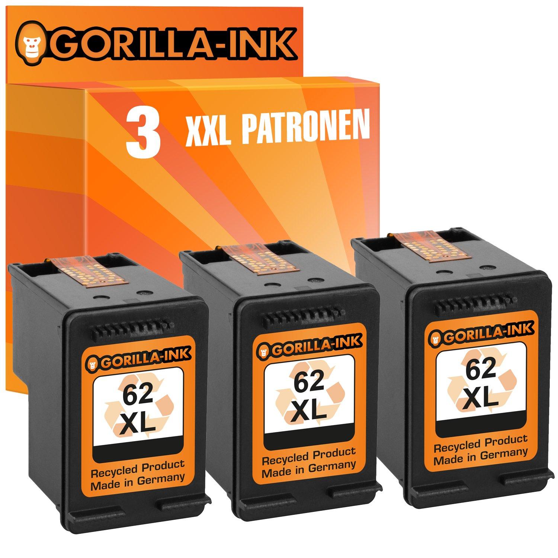 Gorilla de Ink® 3 cartuchos de tinta XXL compatible para HP 62 XL ...