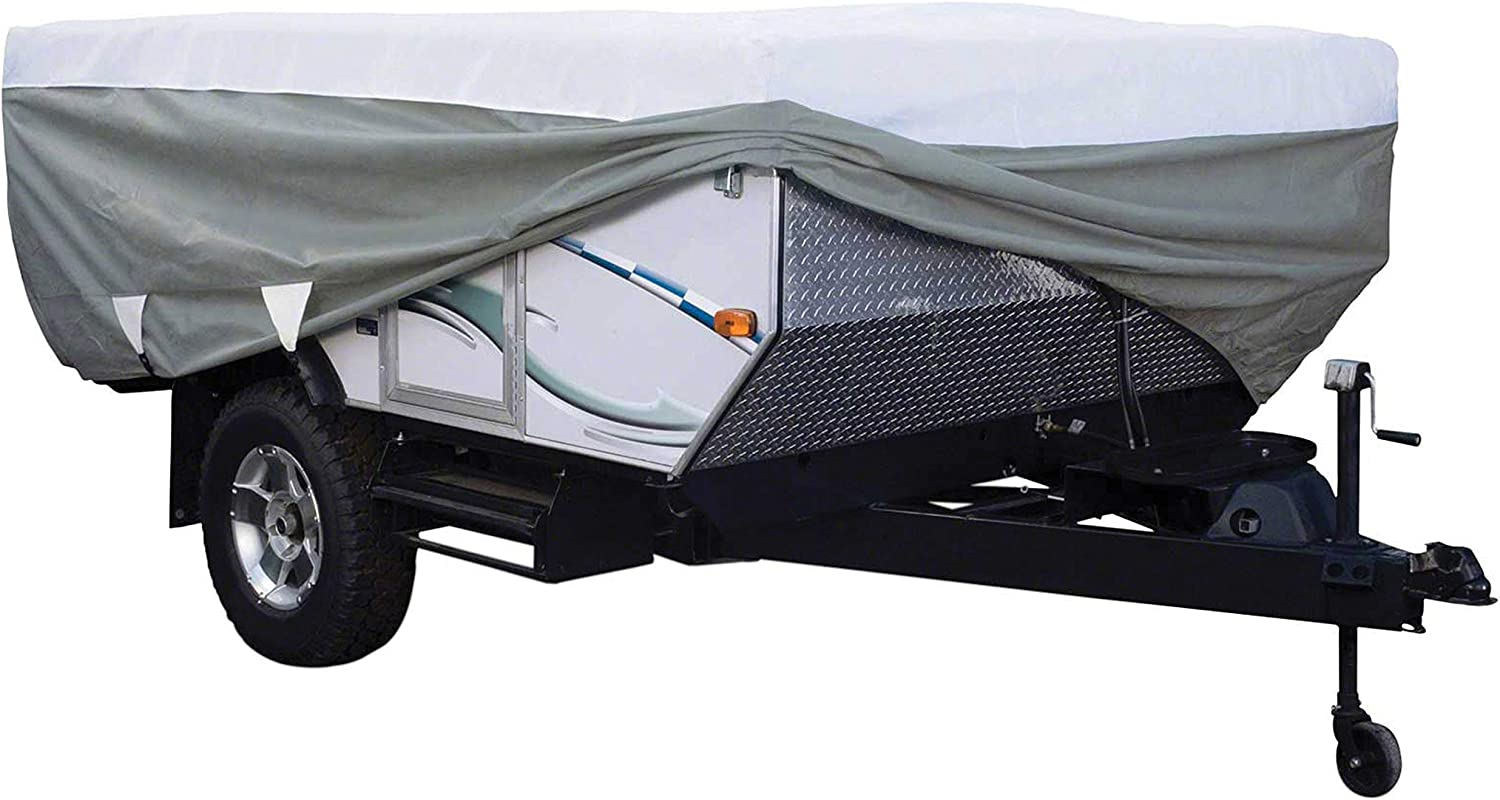 Classic Accessories OverDrive PolyPro 3 Deluxe Folding Camping Trailer Cover Fits 14-16 Trailers Renewed