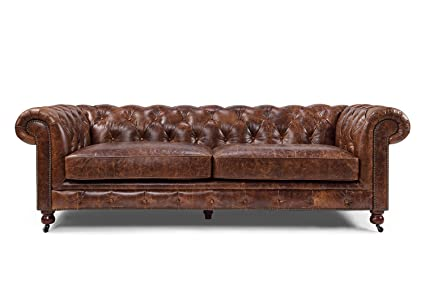 Old Hickory Tannery Wiley Chesterfield Leather Tufted Sofa ...