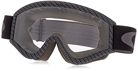 8624dbdd5cb1 Image Unavailable. Image not available for. Color  Oakley L-Frame Graphic  Frame MX Goggles (Carbon Fiber Clear ...