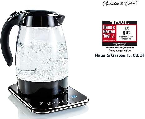Rosenstein & Söhne Glas Wasserkocher WSK 250.b mit LED