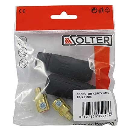 Solter 05947 Pack de 2 conectores aéreos macho, 10/25 mm