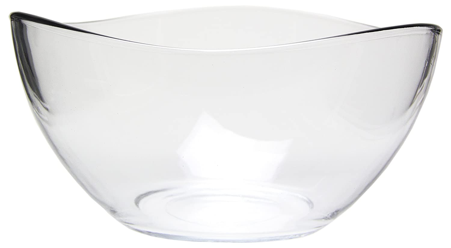 amazon com medium clear glass wavy serving mixing bowl 63 5 oz
