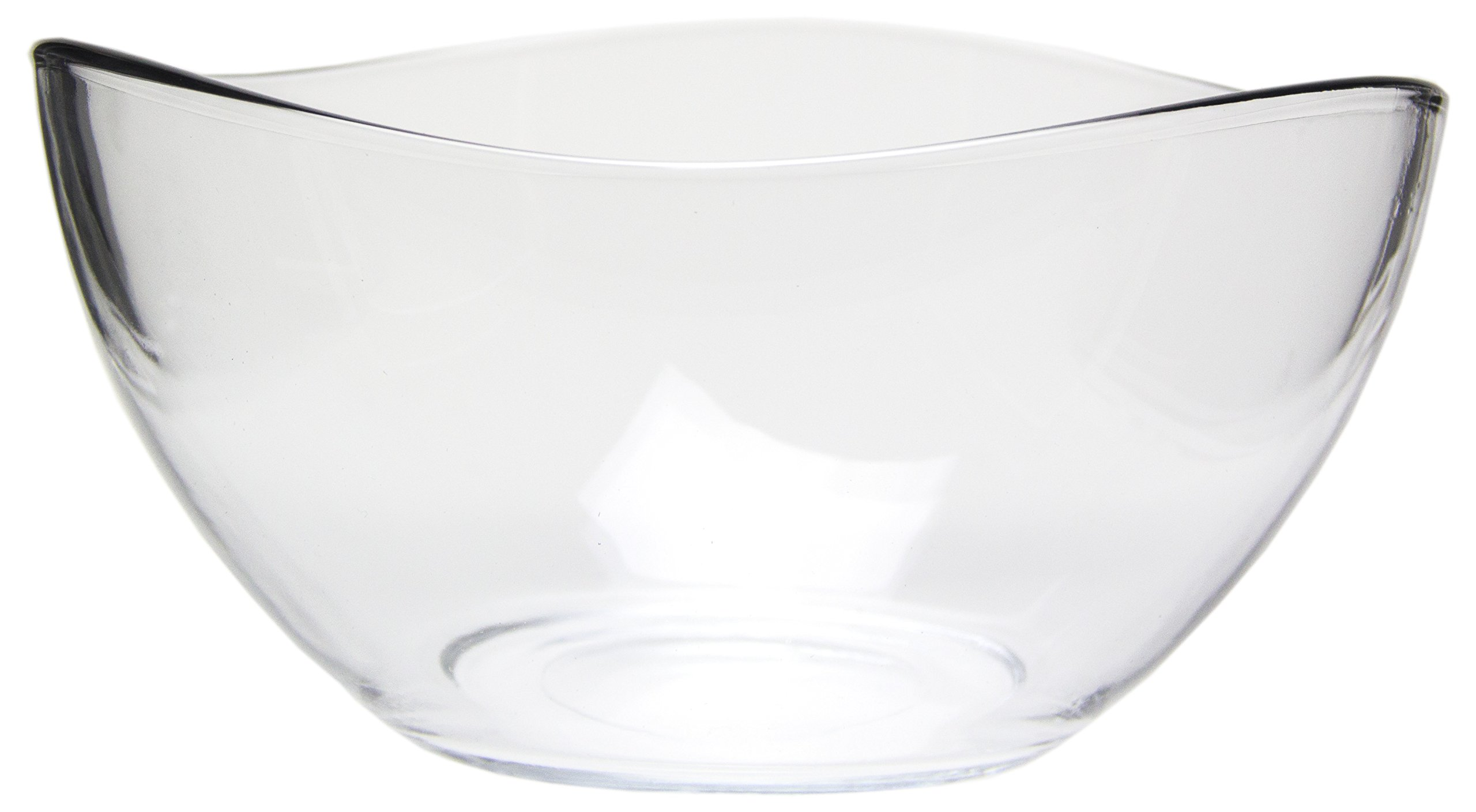 Medium Clear Glass Wavy Serving/Mixing Bowl, 63.5 oz