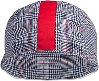 product image for Walz Caps Navy/White/Red Stripe 3-Panel Plaid Cycling Cap