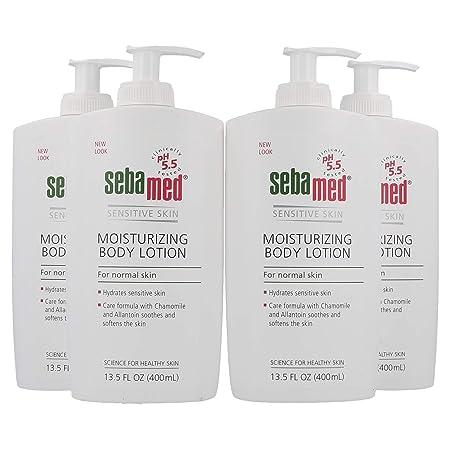 Sebamed Moisturizing Body Lotion, Sensitive Skin 13.50 oz Pack of 4