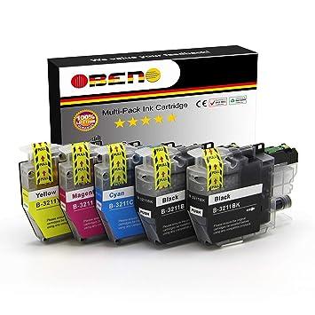 OBENO - 1Set 1Bk - LC3211 LC3213 5 cartuchos de tinta compatibles ...