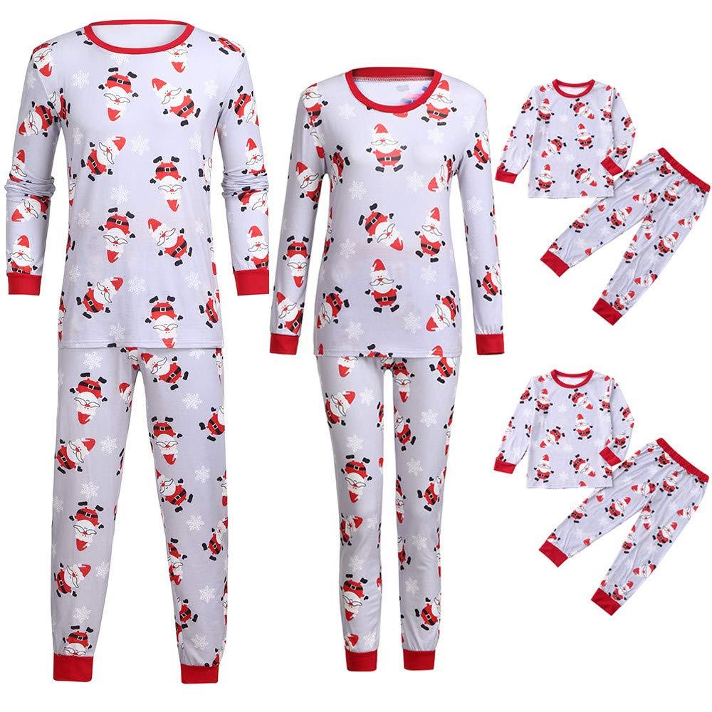 Papa Mama Kids Baby Family Matching Christmas Pajamas Sets for The Family
