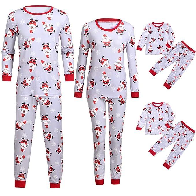 ... Pigiami Natale Pigiama Bambina Donna Ragazza Set 2 Pezzi Uomo Costume  Bambino Top Camicie da Notte Invernali Pantaloni Camicia  Amazon.it   Abbigliamento 5dc24da4d3a