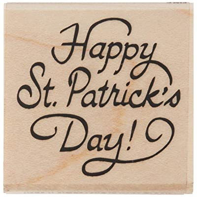 Stamps by Impression 0516a Happy St. Patrick's Day Rubber Stamp: Arts, Crafts & Sewing