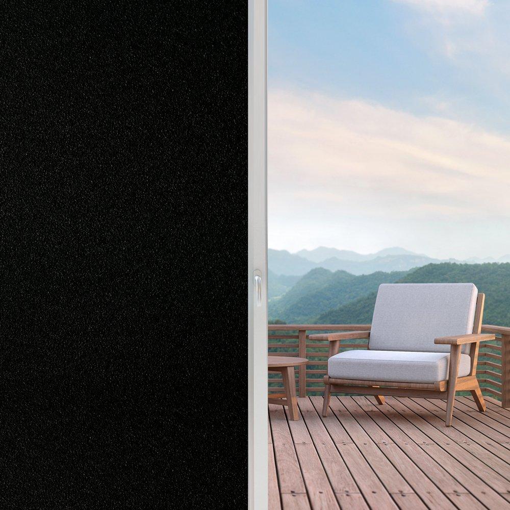 easeonsourceブラックアウトウィンドウフィルムプライバシーWindow Clingダークウィンドウティンティングフィルム、非粘着取り外し可能ウィンドウステッカーライトブロック、ブラック 35.4 x 78.7 inch ブラック T151-N90US B07D7TQRF4 35.4 x 78.7 inch