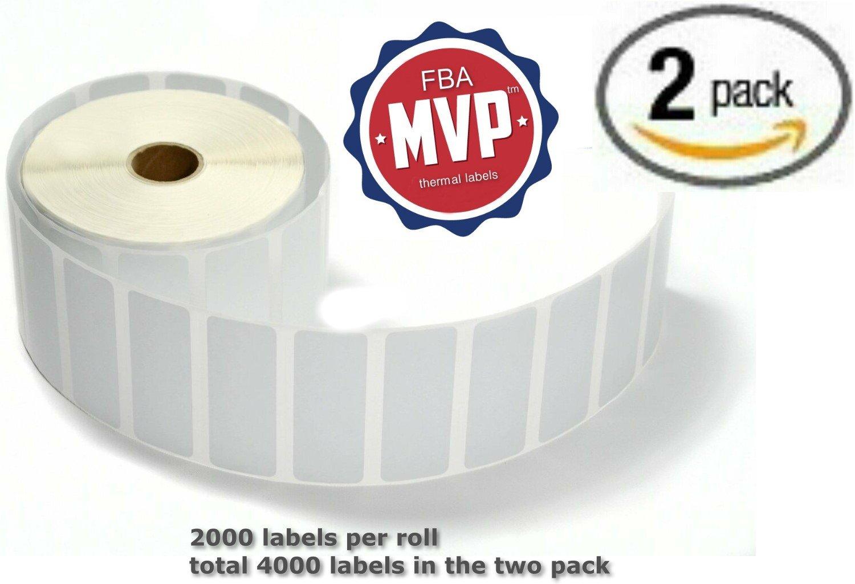 fbamvp 4000 etiquetas autoadhesivas para térmico, 1 x alta, 2 ...