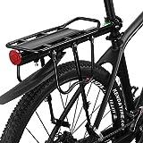 RockBros Fahrrad Gepäckträger für Mountainbike Schnellverschlüsse Schnellspanner mit Hinter Schutzbleche und Reflektor